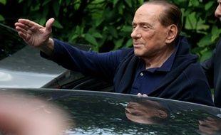 Silvio Berlusconi le 5 juillet 2016 après avoir subi une opération à coeur ouvert
