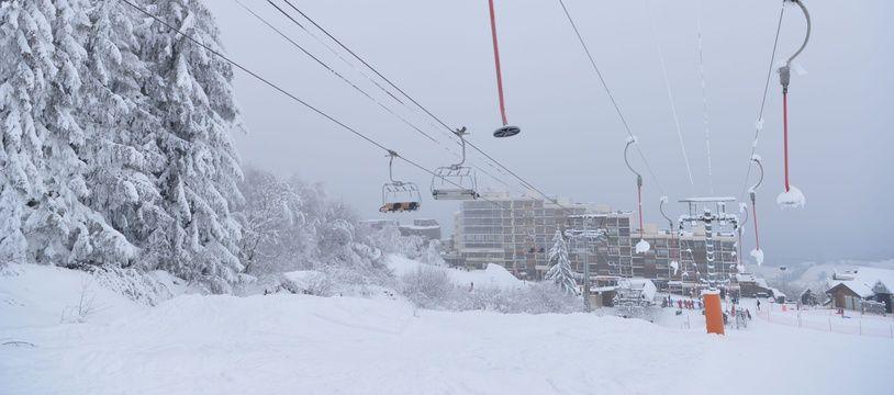 A la station de Prapoutel en Isère, en janvier 2021.