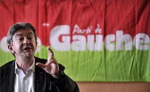 Jean-Luc Mélenchon lors des université d'été du Parti de Gauche, le 22 août 2014 à Saint-Martin d'Hères