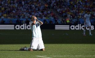 L'Argentin Angel di Maria face à la Suisse, le 1er juillet 2014.