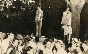 Le lynchage de Thomas Shipp et d'Abram Smith, le 7 août 1930 à Marion, Indiana.