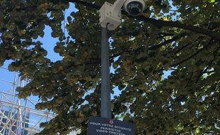 Une des caméras de vidéo-surveillance quai de Paludate.