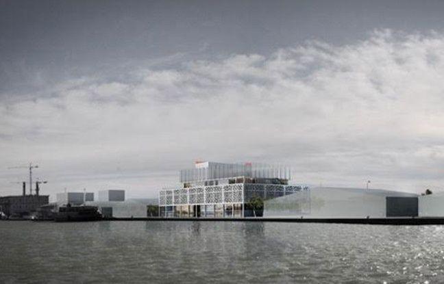 Vue du projet de Radisson Blu, complexe hôtelier aux Bassins à flot à Bordeaux