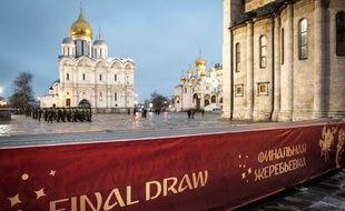 Le Kremlin, à Moscou, où aura lieu le tirage au sort de la Coupe du monde 2018, le 1er décembre 2017.