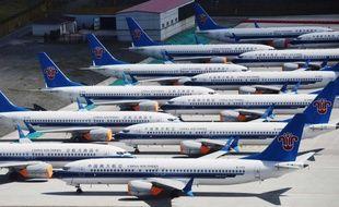 Des avions 737 MAX de Boeing à l'aéroport d'Urumqi en Chine.