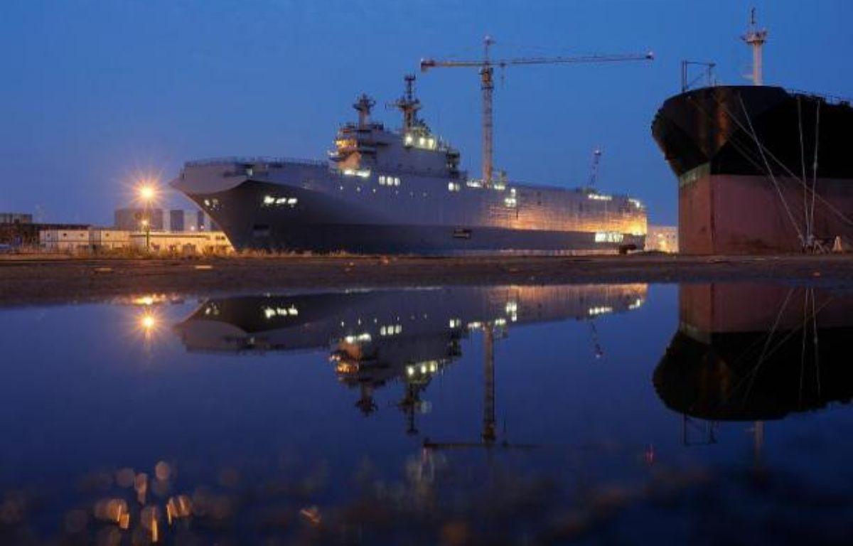 Le Vladivostok, un bâtiment de type Mistral commandé par la Russie aux chantiers navals STX de Saint-Nazaire, le 23 juin 2014 – Jean-Sébastien Evrard AFP