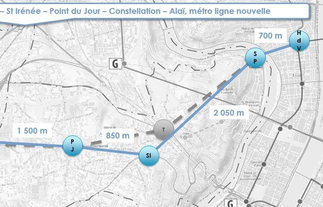 Le Sytral étudie deux scénarios pour la réalisation de la ligne de métro E de Lyon, dont l'un reliant le quartier des Terreaux à celui d'Alaï.