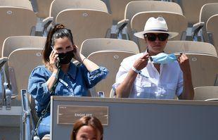 Joyce Jonathan et sa sœur Sarah, le 9 juin 2021, à Roland-Garros.