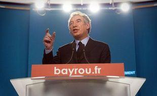 Conférence de presse de François Bayrou, le 1e février 2012 à Paris.