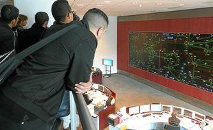 Des étudiants de Lyon-I ont visité lundi le centre de dispatching de Lyon.