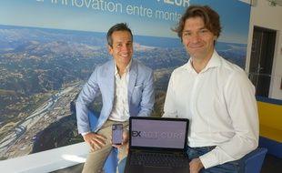 Frédéric Dayan et Fabien Astic, fondateurs d'ExactCure, sont basés à l'incubateur Paca Est.