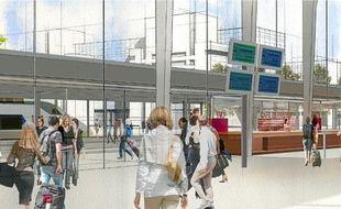 Le coût total des travaux du pôle est estimé à 36millions d'euros (ici le parvis de la future gare)