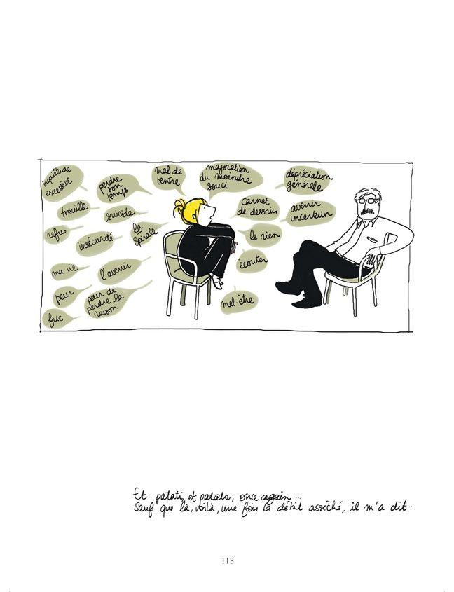 Planche de la BD sur la dépression Chute Libre, de Mademoiselle Caroline.