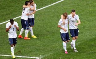 Les joueurs de l'équipe de France face au Nigeria, en juin 2014