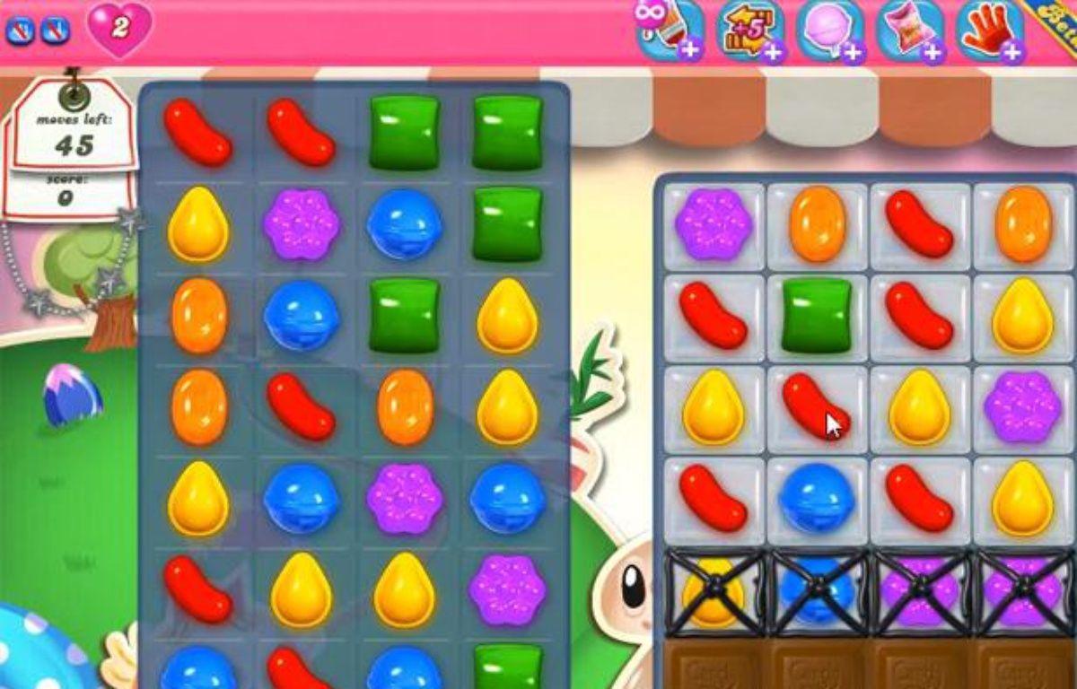 Une partie de «Candy Crush», jeu social très populaire sur Facebook et sur mobile. – CAPTURE D'ECRAN/20MINUTES.FR