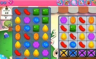 Une partie de «Candy Crush», jeu social très populaire sur Facebook et sur mobile.