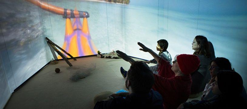 Les visiteurs découvrent les enjeux climatiques grâce aux missions de différents personnages.