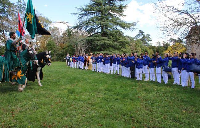 Un spectacle médiéval était proposée au domaine de Courteillac, pour la délégation chinoise en visite
