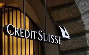 Le logo du Crédit Suisse à Zurich en Suisse, le 1er novembre 2011