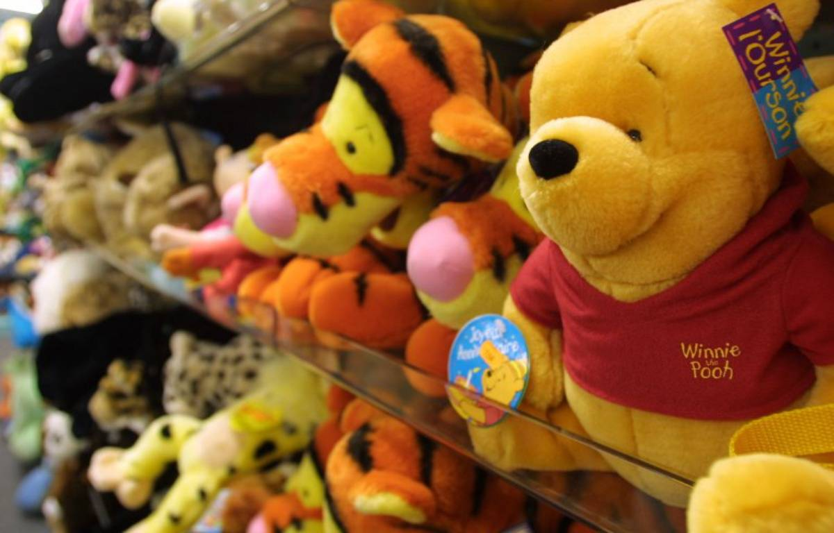 Une peluche Winnie l'ourson – JOEL SAGET / AFP