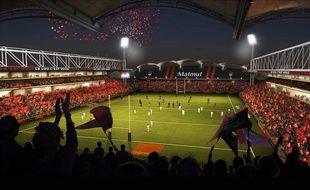 Le visuel du Matmut Stadium de Gerland, une fois les travaux finis cet été.