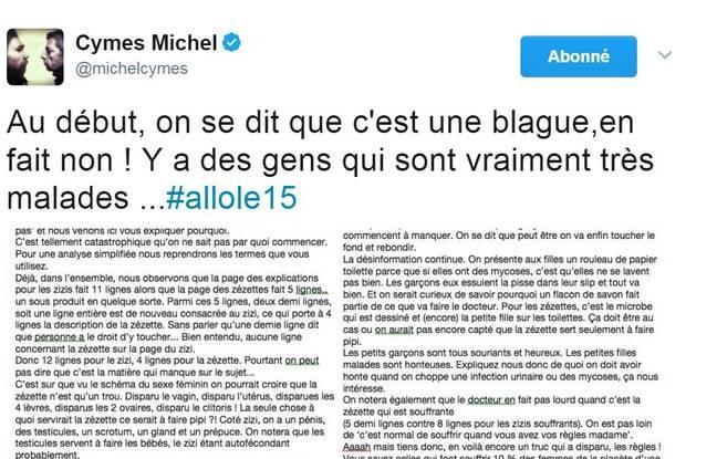 Le tweet de Michel Cymes en réponse aux critiques