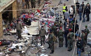 Le souk de Bourj Barajné, à Beyrouth, au Liban, cible d'attentats, le 13 novembre 2015.