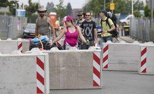 Des barrières de sécurité au festival Pinkpop à Landgraaf en 2017.