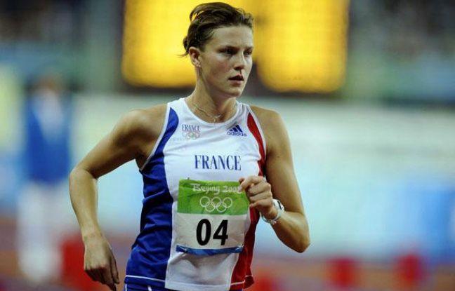 La Française Amélie Cazé lors du Pentathlon des jeux Olympiques de Pékin, le 22 août 2008 en Chine.
