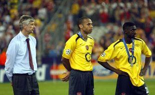 Asrène Wenger et Thierry Henry dépités après la finale de C1 perdue en 2006.
