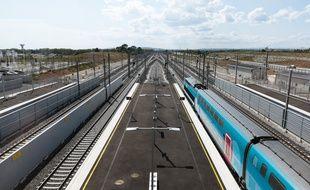(Photo d'illustration) L'homme avait voulu descendre d'un train  qui avait redémarré après un arrêt en gare.