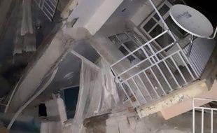 Un immeuble effondré après un tremblement de terre  le district de Sivrice, le 24 janvier 2020.