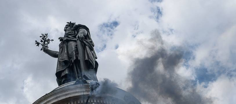 Place de la République, à Paris, le samedi 13 juin 2020.