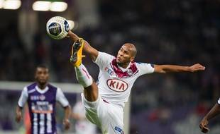 Bordeaux's player Thomas Toure in action during the French League Cup soccer match between Toulouse Football Club and Girondins de Bordeaux at the Toulouse Stadium in Toulouse, southern FRANCE - 28/10/2014./LANCELOT_FLAF010/Credit:LANCELOT FREDERIC/SIPA/1410282225
