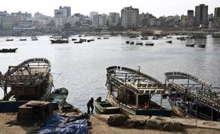 Une vue du port de Gaza