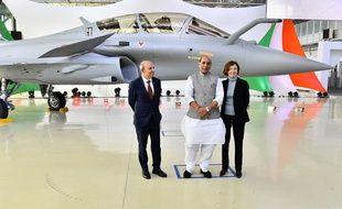 Livraison du premier Rafale à l'Inde, le 8 octobre 2019 à Mérignac.