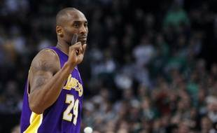 Le joueur des Los Angeles Lakers Kobe Bryant, lors d'un match contre Boston, le 31 janvier 2010.