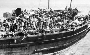 Un bateau de réfugués vietnamiens en juin 1979.
