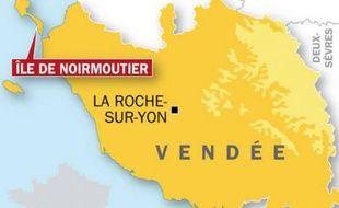 Carte de localisation de l?île de Noirmoutier