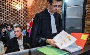 Le viticulteur bio Emmanuel Giboulot au tribunal de Dijon,le 24 février 2014