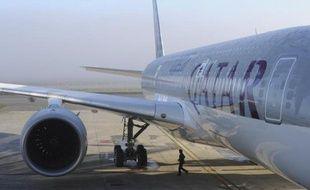 Un Airbus A350-900 fabriqué pour Qatar Airways à Toulouse, le 22 décembre 2014