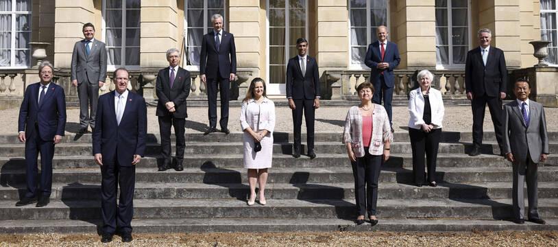 Les ministres des Finances du G7 lors du sommet de Londres en juin 2021.