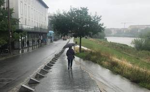 Pluie et brouillard à Nantes le 5 juillet 2021.