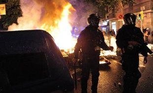 Nouveaux incidents à Barcelone le 28 mai 2014, pour la troisième soirée consécutive, après l'évacuation d'un squat emblématique