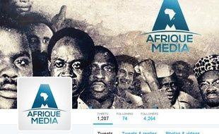 Capture d'écran du compte Twitter de la chaîne de télévision Afrique Media.