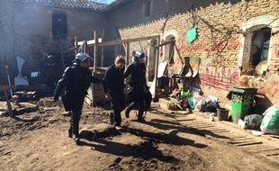 Le 6 mars sur le site de Sivens lors de l'évacuation des zadistes par les gendarmes