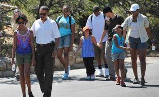 Michelle Obama en visite en famille dans le Grand Canyon, le 16 août 2009