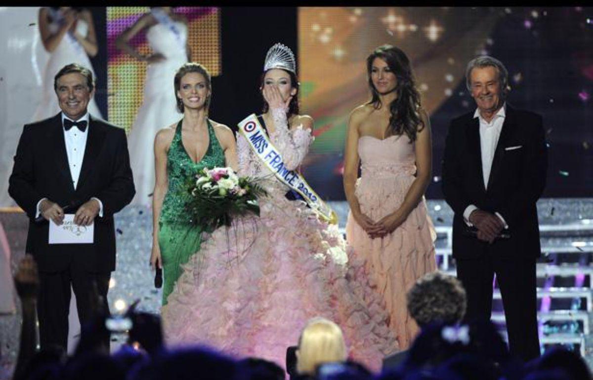 Miss Alsace, Delphine Wespiser, a été élue Miss France 2012 le 3 décembre 2011. – DAMIEN MEYER / AFP