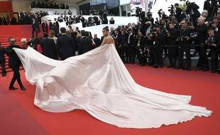Sur le tapis rouge du Festival de Cannes en mai 2019 (Illustration)