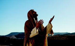 Mike Massy, interprète le rôle-titre de la comédie musicale «Jésus - De Nazareth à Jérusalem.